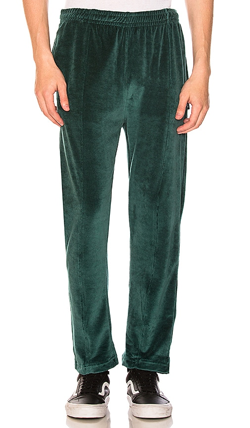 Stussy Velour Pant in Green