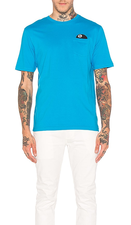 Stussy 8 Ball SS Pocket Tee in Blue