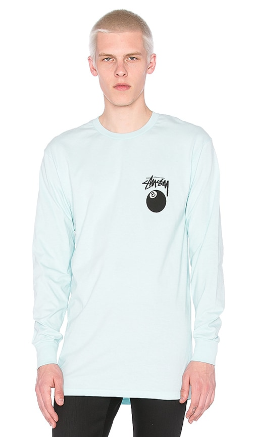 Stussy 8 Ball L/S Tee in Blue