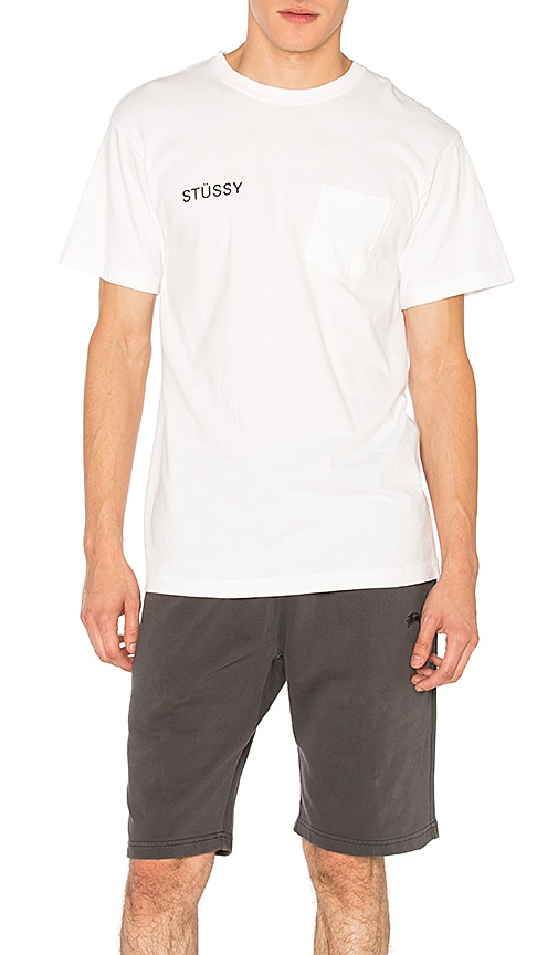 Stussy Zine Pocket Tee in White