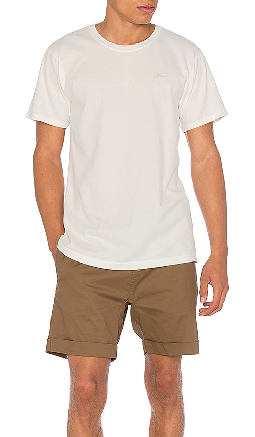 Stussy Small Stock Tee in White