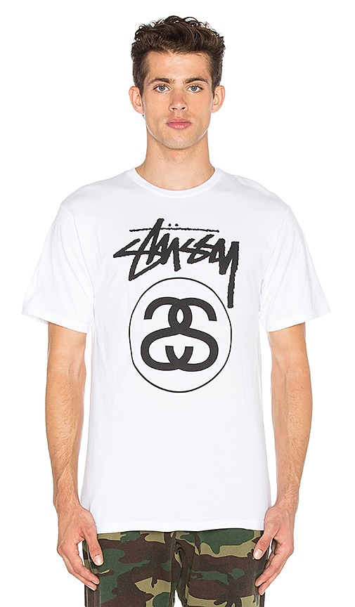 Stussy Stock Link Tee in White