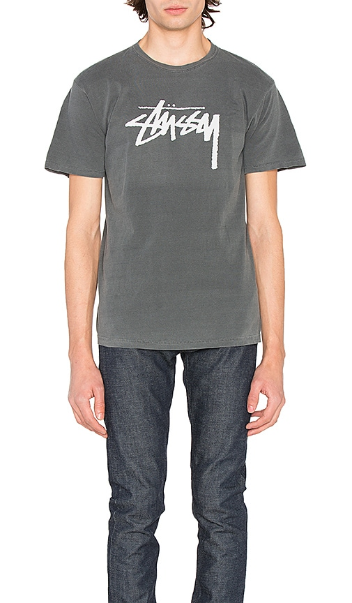 Stussy Stock Tee in Gray