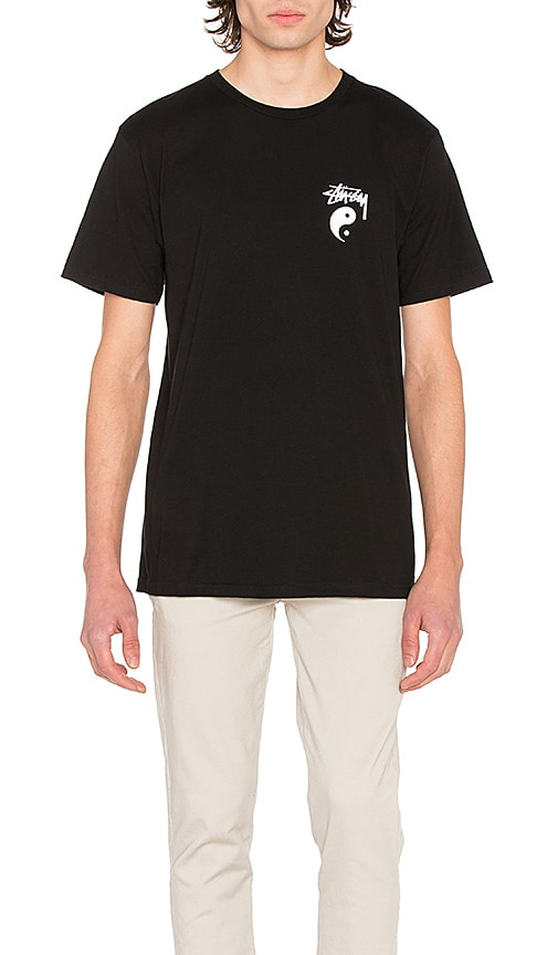 Stussy Stock Yin Yang Tee in Black & White