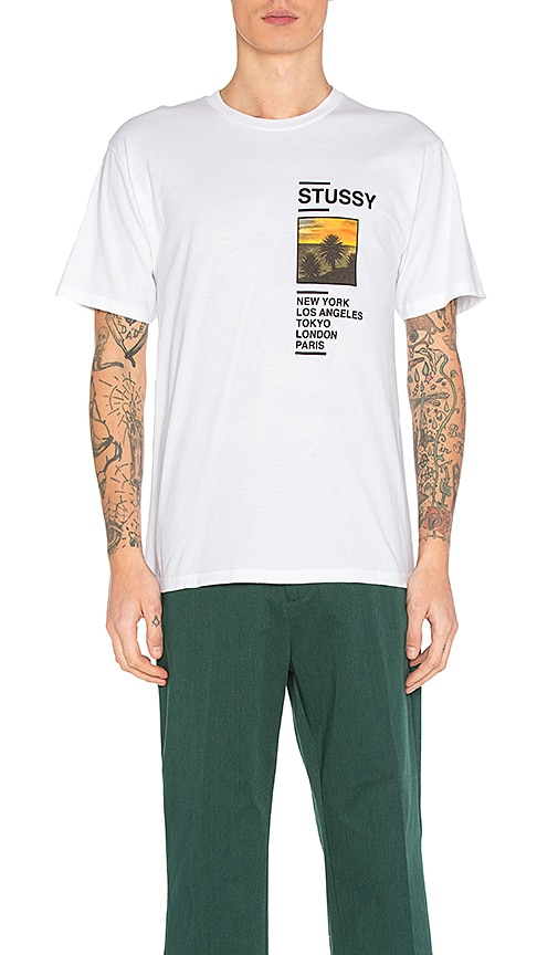 Stussy Gold Coast Tee in White