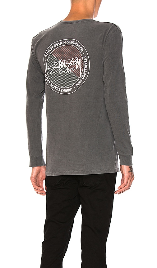 Stussy Halftone Dot Tee in Charcoal