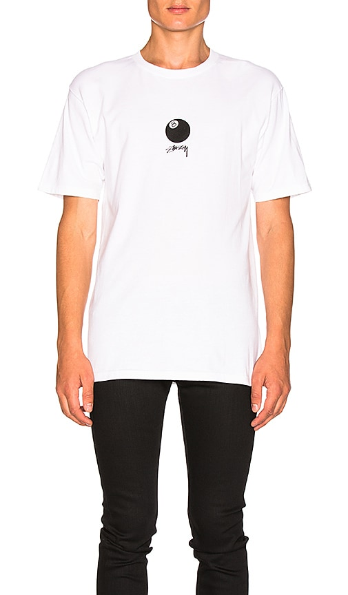 Stussy 8 Ball Stock Tee in White