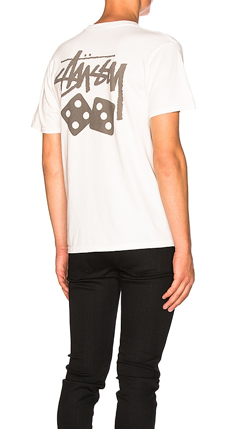 Stussy Dice Tee in White