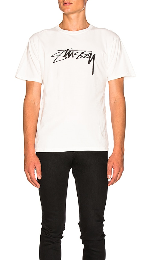 Stussy Smooth Stock Tee in White