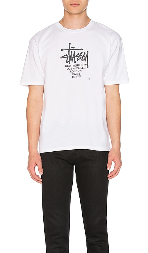 Stussy Big Cities Tee in White