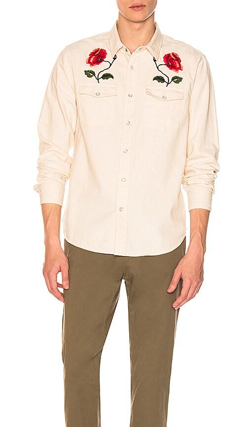 Stussy Poppy Denim Shirt in Off White