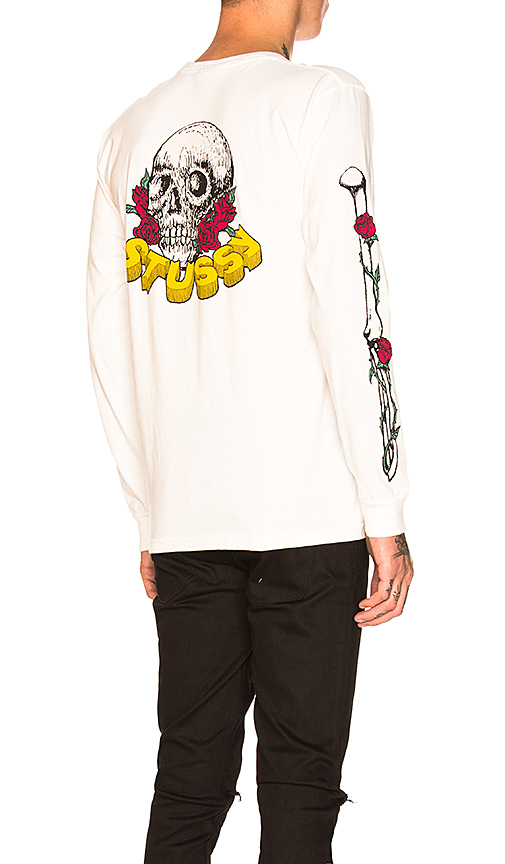 0e0a77702a661 Stussy Skull   Roses Long Sleeve in Natural