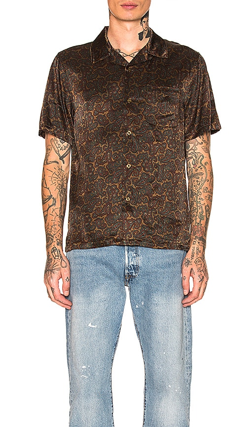 Stussy Paisley Shirt in Olive