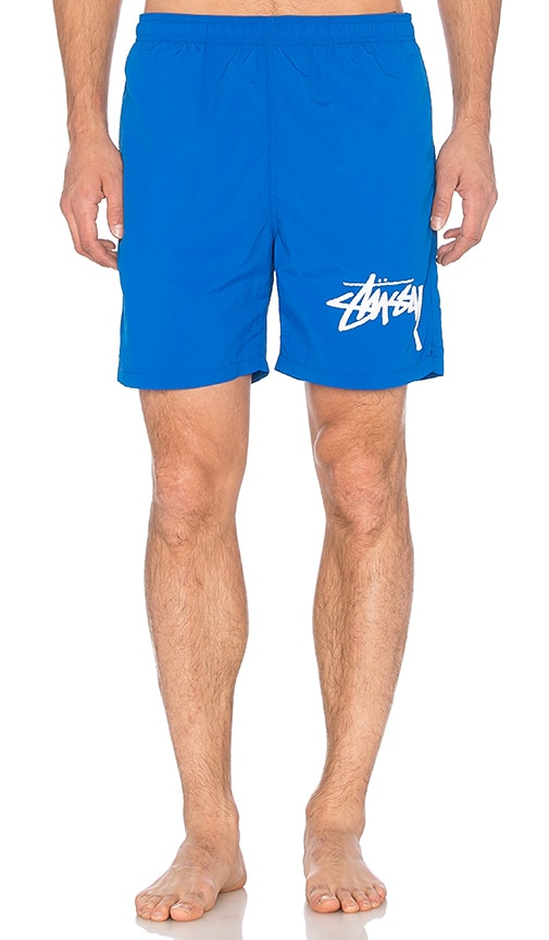 Stussy Stock Elastic Waist Trunk in Blue