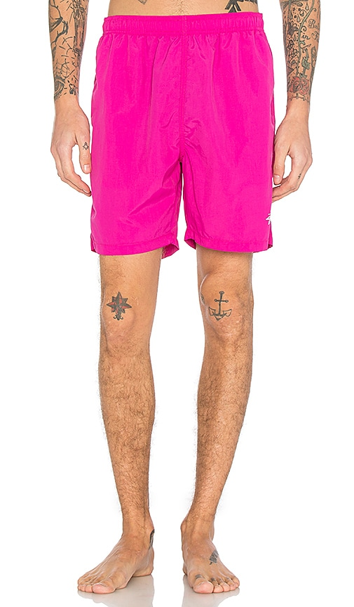 Stussy Stock Elastic Waist Short II in Pink