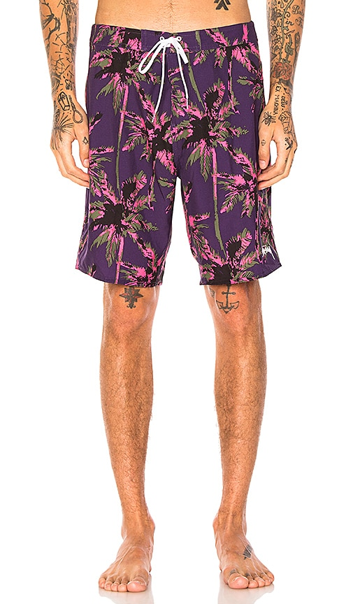 Stussy Dark Wild Palm Trunk in Purple
