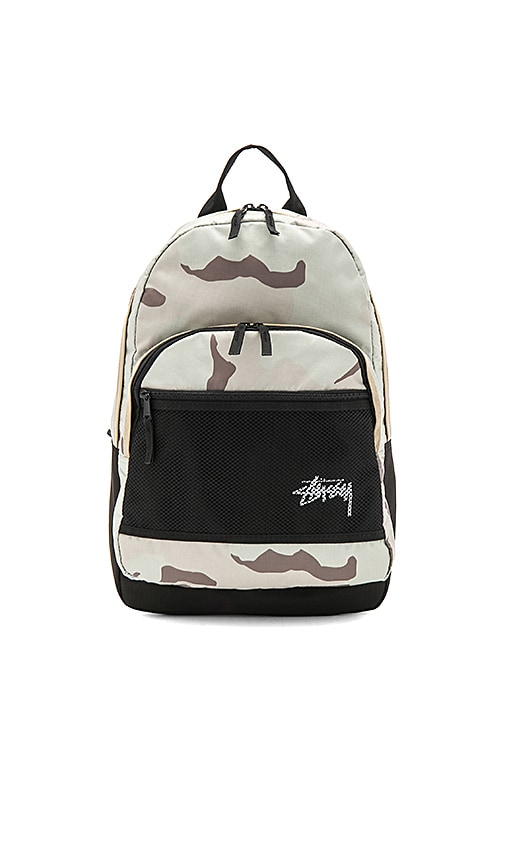 Stussy Stock Desert Camo Backpack in Sage
