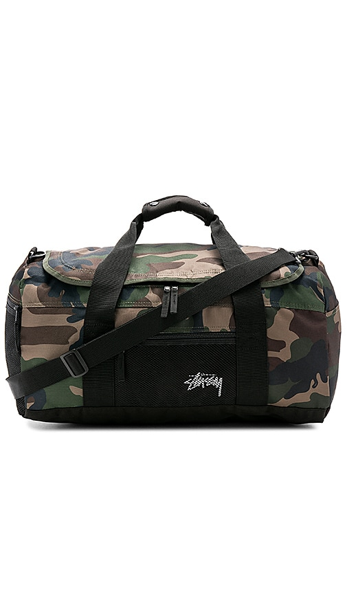 Stussy Stock Duffle Bag in Army