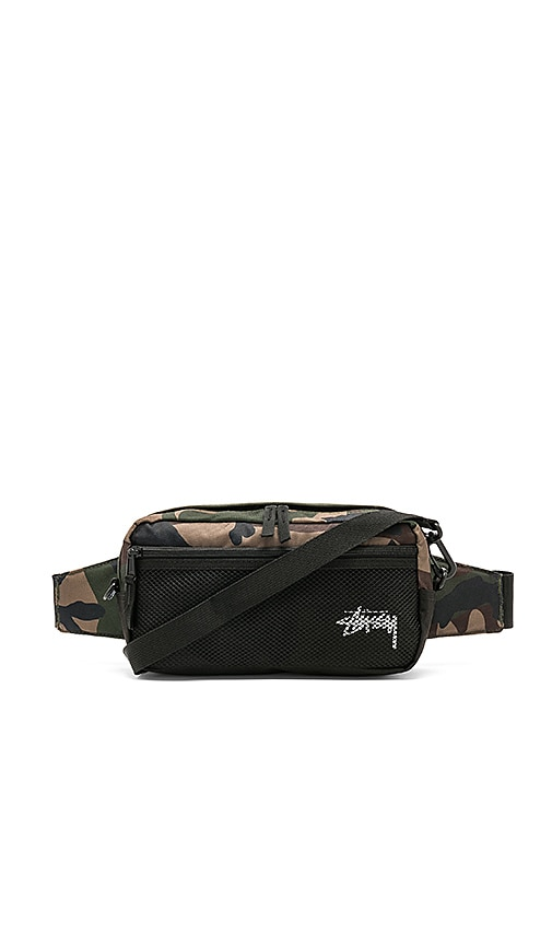 Stussy Stock Side Bag in Green