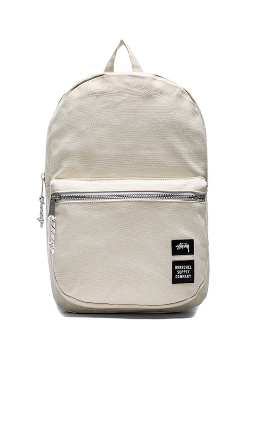 Stussy x Herschel Heavy Canvas Lawson Backpack in White
