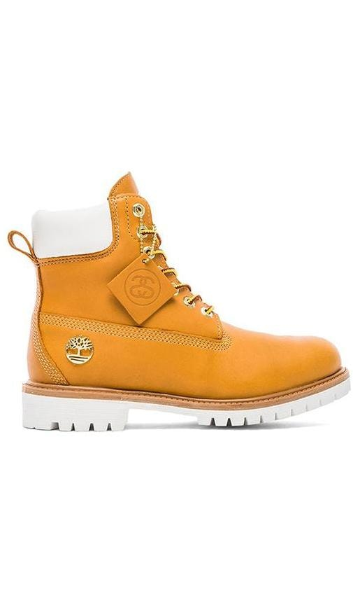 Stussy X Timberland Boot in Wheat  c17cb2ccb41b
