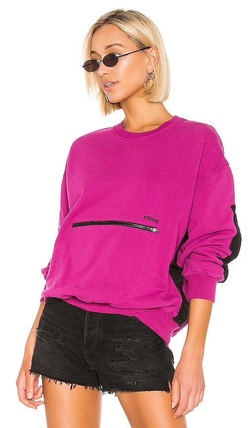 Simone Pocket Fleece Crew Sweater