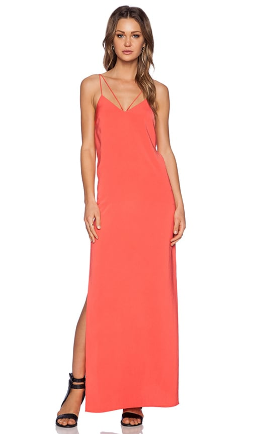 STYLESTALKER Orchid Maxi Dress in Coral