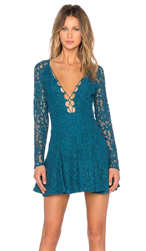 STYLESTALKER Love Bomb Dress in Teal