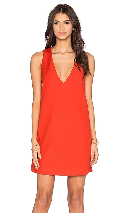 STYLESTALKER Silencio Shift Dress in Orange