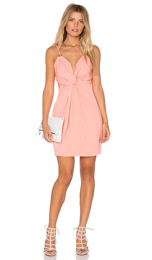 STYLESTALKER Kentia Dress in Coral