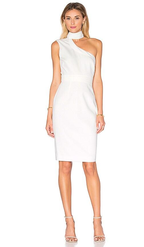 STYLESTALKER Aspen Midi Dress in White