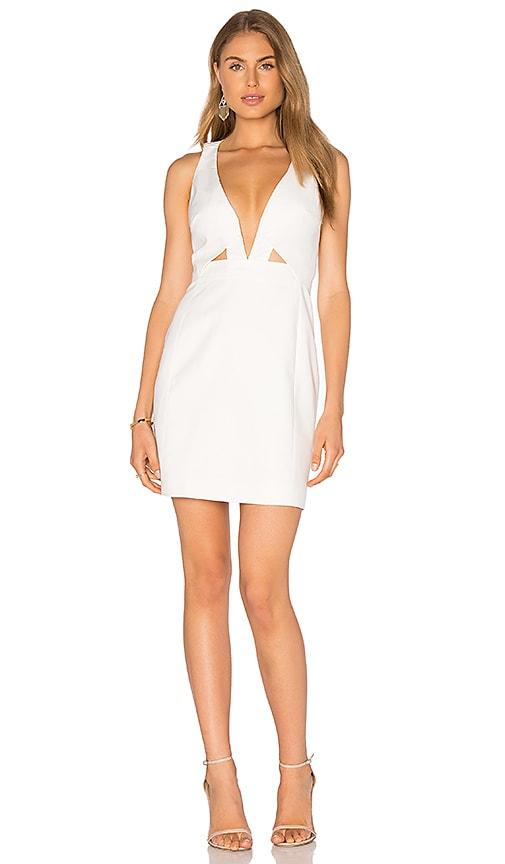 STYLESTALKER Seine Mini Dress in Blanc