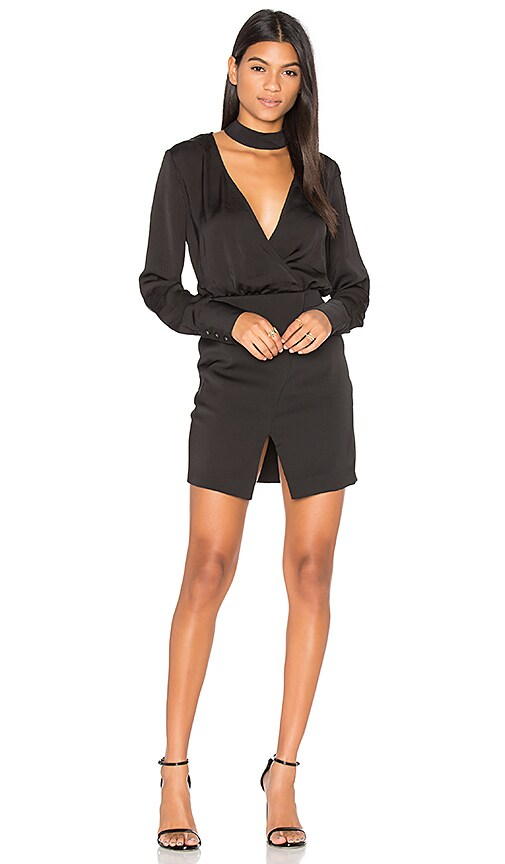 STYLESTALKER Frances Shirt Dress in Black