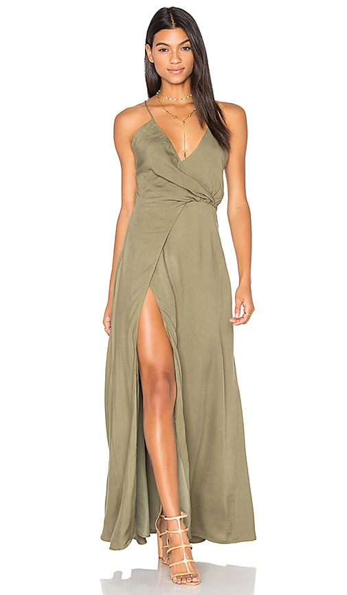 STYLESTALKER Marna Maxi Dress in Green
