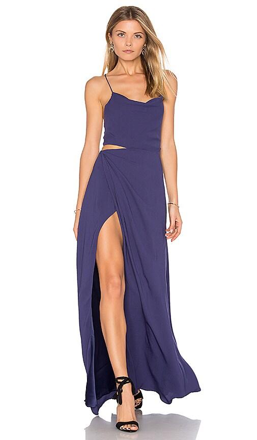 STYLESTALKER Nicolet Maxi Dress in Blue