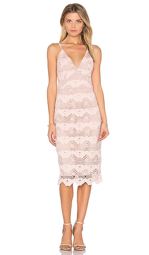 STYLESTALKER Flora Midi Dress in Pink