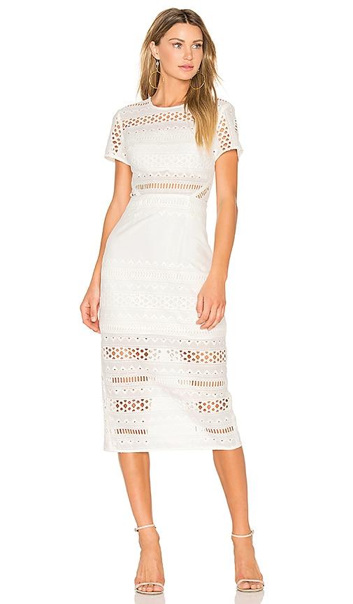 STYLESTALKER Venice Midi Dress in White