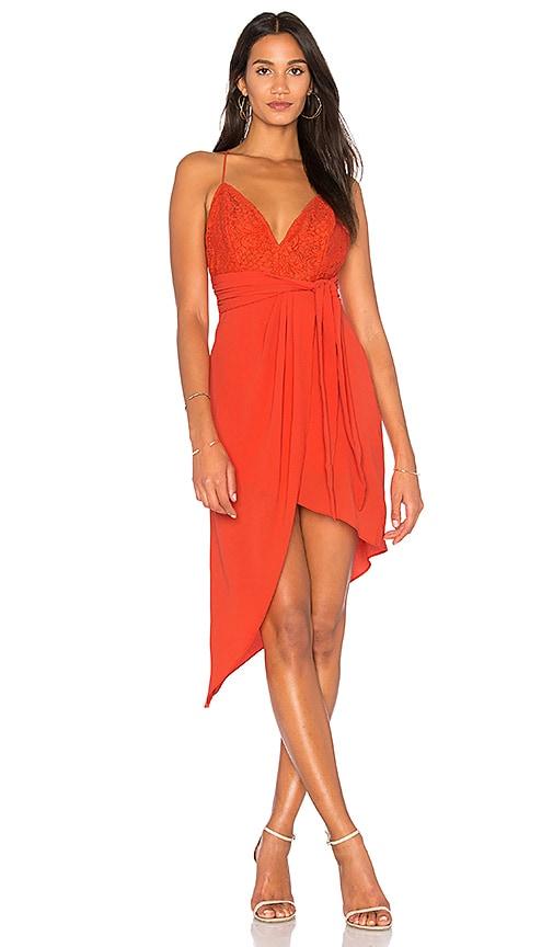 STYLESTALKER Aria Dress in Orange