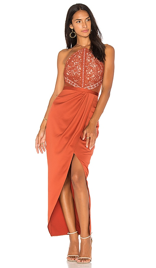 STYLESTALKER Laylor Maxi Dress in Orange