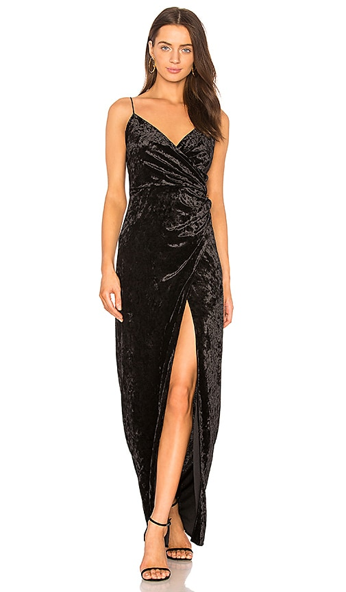 STYLESTALKER Kennedy Maxi Dress in Black