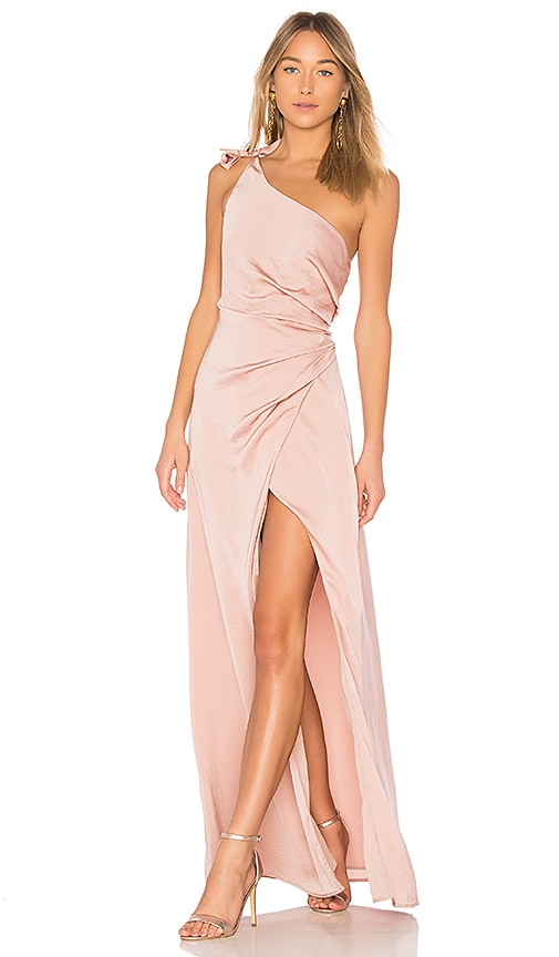 STYLESTALKER Jordana Maxi Dress in Rose