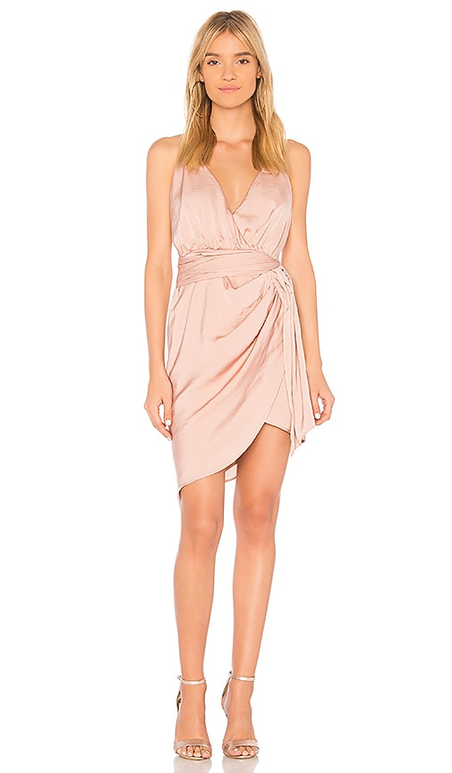 STYLESTALKER Jordana Draped Dress in Rose