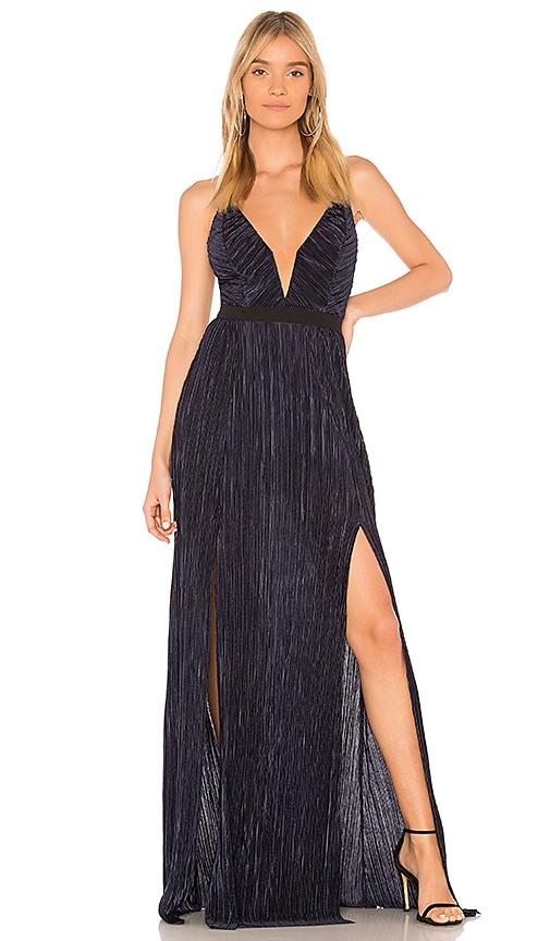 STYLESTALKER Alexa Maxi Dress in Blue