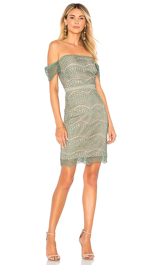 STYLESTALKER Alexander Mini Dress in Sage