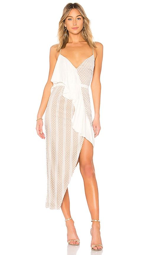 STYLESTALKER Carmen Maxi Dress in White