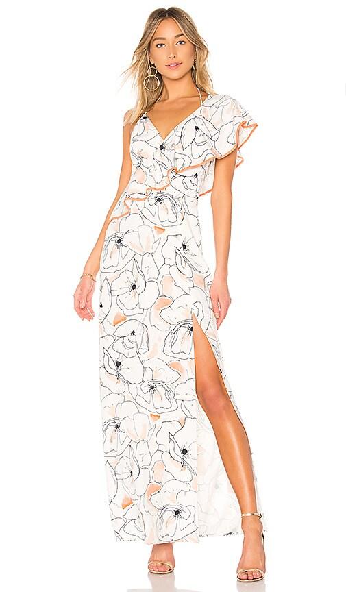 STYLESTALKER Moana Maxi Dress in White