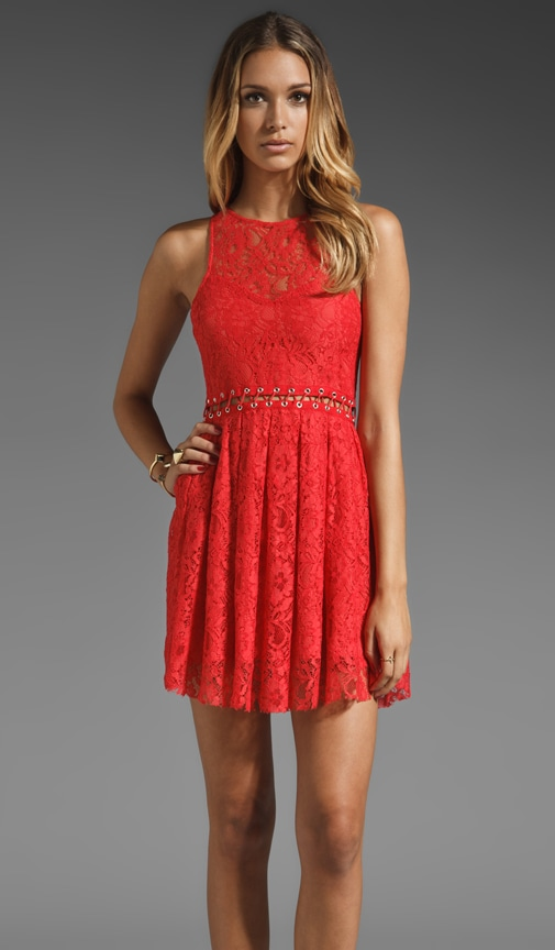 Love Me Do Lace Up Dress