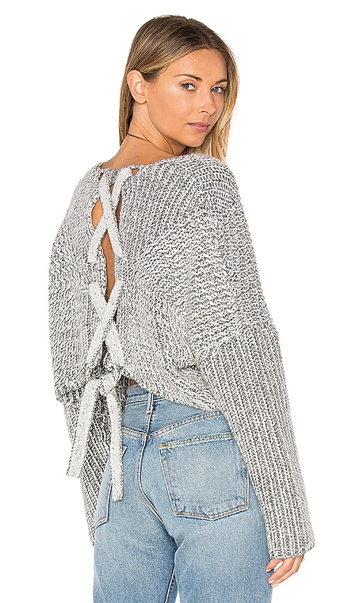 STYLESTALKER Hart Crop Sweater in Grey
