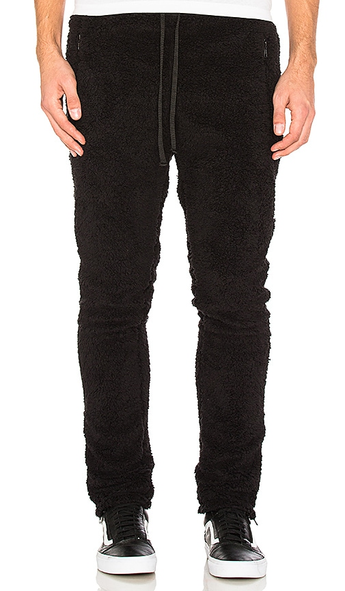 SSUR Sherpa Sweatpants in Black