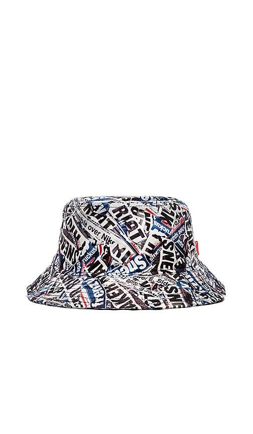 Staple Riot Bucket Hat in Grey